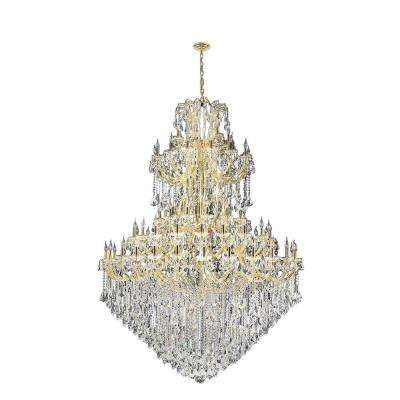 Maria Theresa 84-Light Gold and Clear Crystal Chandelier