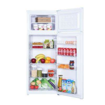 7.4 cu. ft. 2-Door Mini Fridge in White