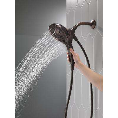 In2ition Two-in-One 5-Spray 6 in. Dual Wall Mount Fixed and Handheld Shower Head in Venetian Bronze