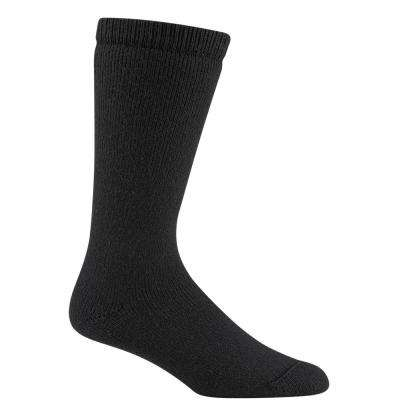 Below Heavyweight Cushioned Durable Super Warm Wool Black Outdoor Work Sock
