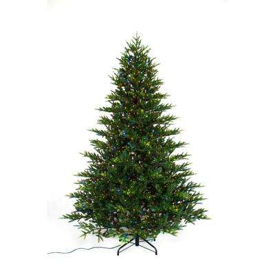 7.5 ft. Pre-Lit LED 9-Function Quick Set Artificial Christmas Tree with 2000 Warm White/Multi Micro Dot Lights