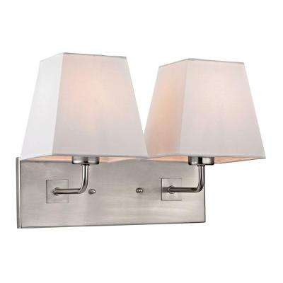 Carlyle Collection 2-Light Brushed Nickel Sconce