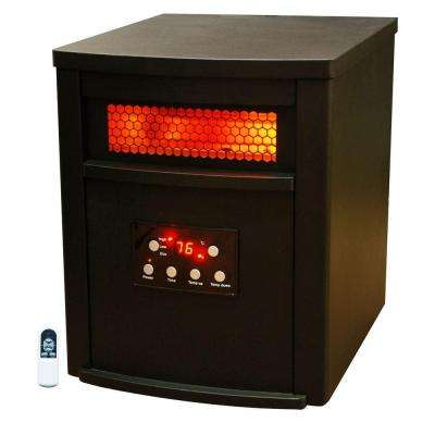 Life Zone Series 1500-Watt Large Room 6 Element Infrared Heater with Metal Cabinet and Remote