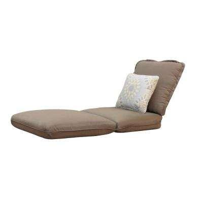 Messina Canvas Cocoa Replacement Chaise Cushion and Outdoor Throw Pillow