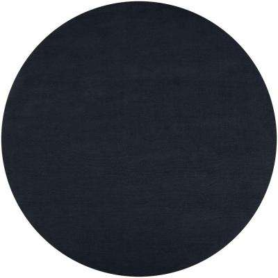 Falmouth Black 8 ft. x 8 ft. Round Indoor Area Rug