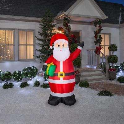 6.50 ft. Pre-Lit Life Size Airblown Inflatable Santa
