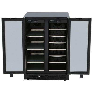 23.81 in. Silhouette 27-Bottle Wine and 60-Can Built In Beverage Cooler