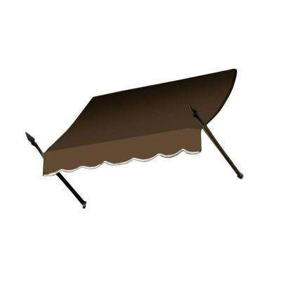 25 ft. New Orleans Awning (56 in. H x 32 in. D) in Brown