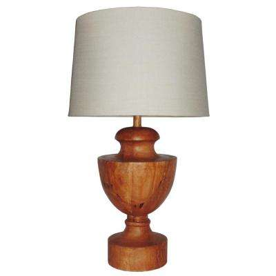 Gangway 29.5 in. H Natural Cedar Table Lamp
