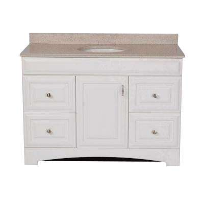Providence 48 in. Vanity in White with Colorpoint Vanity Top in Maui