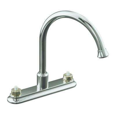 Coralais 2-Handle Standard Kitchen Faucet in Polished Chrome