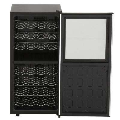 Silent 32-Bottle Dual Zone Touchscreen Wine Cooler