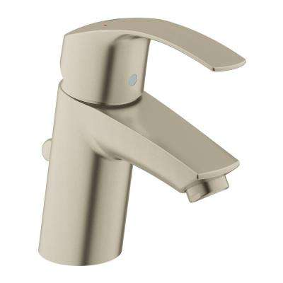 Eurosmart Single Hole Single-Handle Low-Arc Bathroom Faucet in Brushed Nickel InfinityFinish
