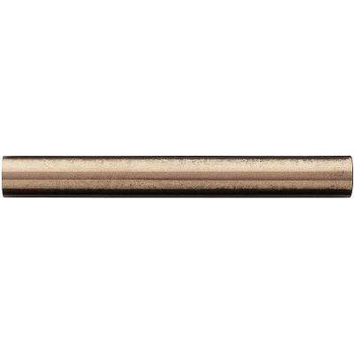 3/4 in. x 6 in. Cast Metal Pencil Liner Classic Bronze Tile (10 pieces / case)