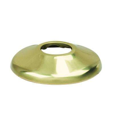 1/2 in. IPS Shallow Escutcheon in Polished Brass