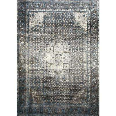 Area Rug Pattern: Distressed · Vintage Kellum Blue 7 Ft. 10 In. X 11 Ft. 2  In.