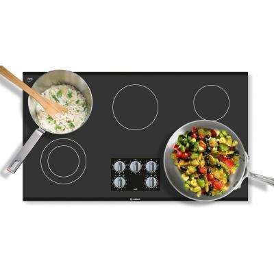500 Series 36 in. Radiant Electric Cooktop in Black with 5 Elements including 2,500-Watt Element