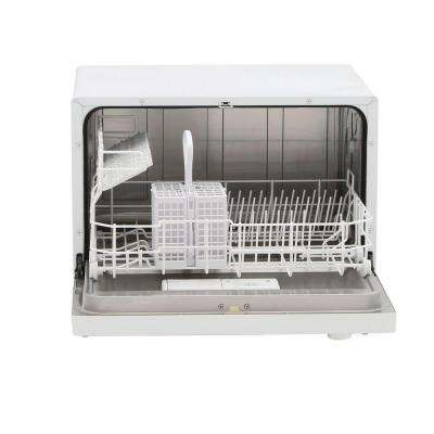 Countertop Dishwasher in White with 6 Wash Cycles and Delay Start