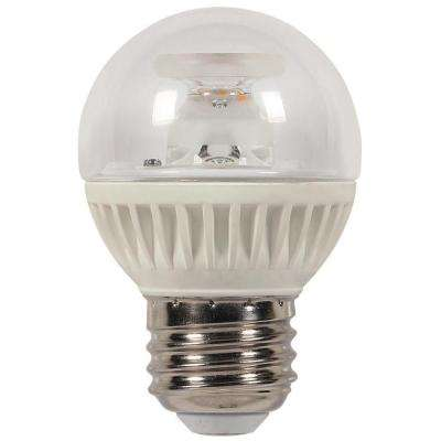 60W Equivalent Warm White G16-1/2 Medium Base Dimmable LED Light Bulb