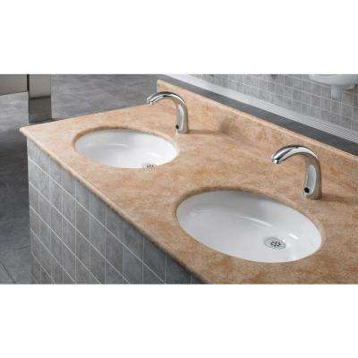 Selectronic DC-Powered Single Hole Touchless Bathroom Faucet with Cast Spout in Polished Chrome