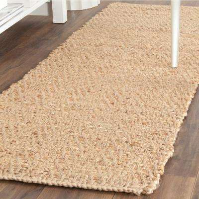 Natural Fiber Beige 2 ft. 3 in. x 11 ft. Runner Rug