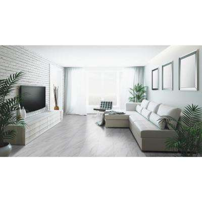 12 in. x 24 in. Kolasus White Polished Porcelain Floor and Wall Tile (16 sq. ft./case)