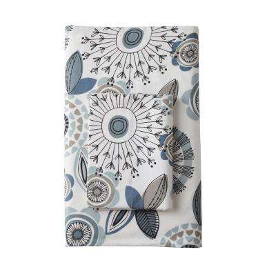 Layla Floral Organic Flannel Fitted Sheet