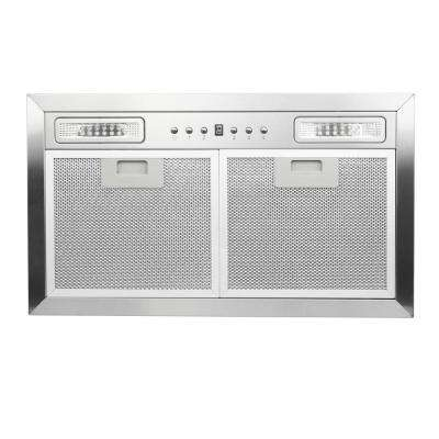 20.5 in. 400 CFM Insert Range Hood with LED Lighting in Stainless Steel