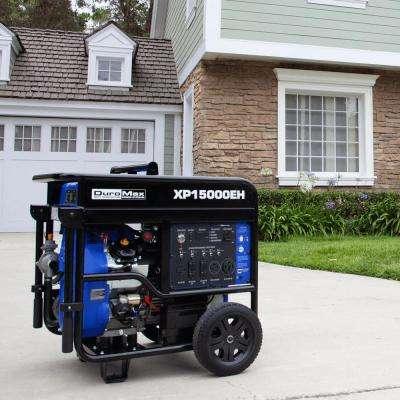 12500-Watt 713 cc Portable Gasoline / Propane Powered Dual Fuel Generator with Twin Engine