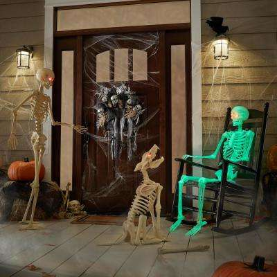 60 in. Glow-in-the-Dark Poseable Skeleton
