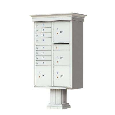 1570 Series 8 Mailboxes, 1 Outgoing, 4 Parcel Lockers, Vital Cluster Box Unit with Vogue Classic Accessories