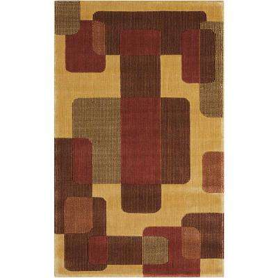 Parallels Beige 2 ft. 3 in. x 3 ft. 9 in. Accent Rug