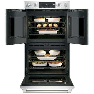 Cafe 30 in. Double Electric Wall Oven Self-Cleaning with Convection in Stainless Steel