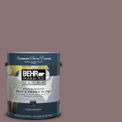 Home Decorators Collection 1-gal. #HDC-AC-28 Smokey Claret Satin Enamel Interior Paint