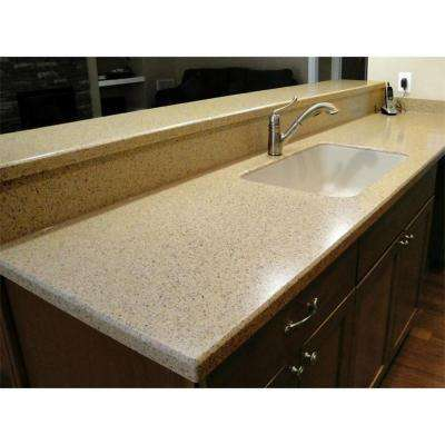 2 in. x 2 in. Solid Surface Countertop Sample in Shasta