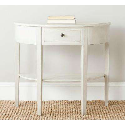 Abram Eggshell Console Table