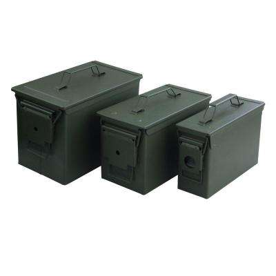 Airtight Water-Resistant Metal Ammo Cans (3-Pack)