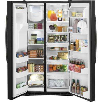 Adora 25.3 Cu. Ft. Side-By-Side Refrigerator ENERGY STAR in Black Slate, Fingerprint Resistant
