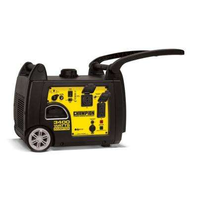 3400-Watt Gasoline Powered Recoil Start Portable Inverter Generator with 192 cc Engine
