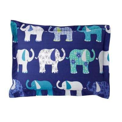 Elephant Parade 200-Thread Count Cotton Percale Sham