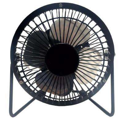 LavoHome 4 in. Mini Fan High Velocity Personal Office Fan Black Electric Table Fan Compact Design