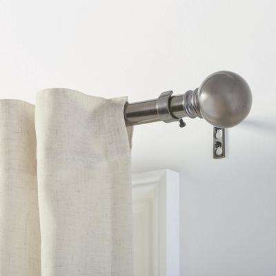 Mix and Match 1 in. Ball Curtain Rod Finial in Gunmetal (2-Pack)