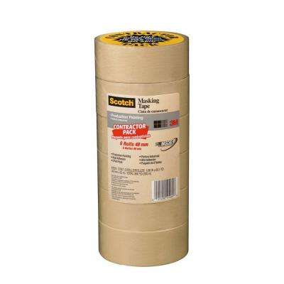 Scotch 1.88 in. x 60.1 yds. Painting Production Masking Tape (6-Pack) (Case of 4)