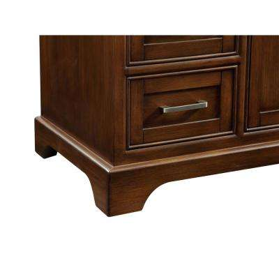 Easton 48 in. Single Bath Vanity w/ 8 Drawers 1 Shelf 2 Doors; Marble Top; Porcelain Sink; Teak