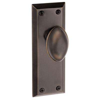 Fifth Avenue Timeless Bronze Plate with Privacy Eden Prairie Knob