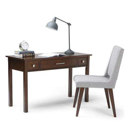 Avalon Pine Wood Office Desk in Tobacco Brown