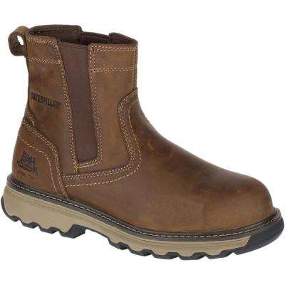 Pelton Men's Dark Beige Steel Toe Work Boots