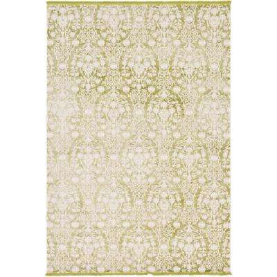 Arcadia Light Green 7 ft. x 10 ft. Area Rug