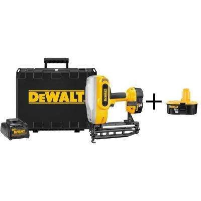 18-Volt Ni-Cad 1-1/4 in. - 2-1/2 in. x 16-Gauge Cordless XRP Straight Nailer Kit with Bonus Battery Pack