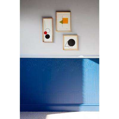 Oriental Paintable White & Off-White Wallpaper Sample
